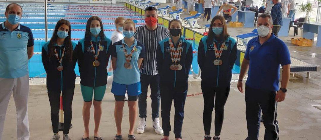 CSM Piteşti, evoluție conform așteptărilor la Cupa României de nataţie: 13 medalii în competiţia feminină